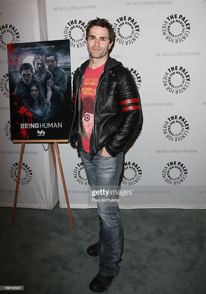 Actor <a gi-track='captionPersonalityLinkClicked' href=/galleries/search?phrase=Sam+Witwer&family=editorial&specificpeople=4631209 ng-click='$event.stopPropagation()'>Sam Witwer</a> attends the premiere screening and panel discussion of Syfy's 'Being Human' season 3 at The Paley Center for Media on January 8, 2013 in Beverly Hills, California.
