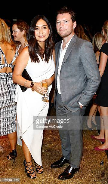 Actor Sam Worthington and Elle editor Justine Cullen attend the Hello Elle Australia show after party during MercedesBenz Fashion Week Australia...