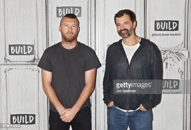 Actor Sam Worthington and filmmaker Greg Yaitanes attend Build to discuss 'Manhunt UNABOMBER' at Build Studio on July 20 2017 in New York City