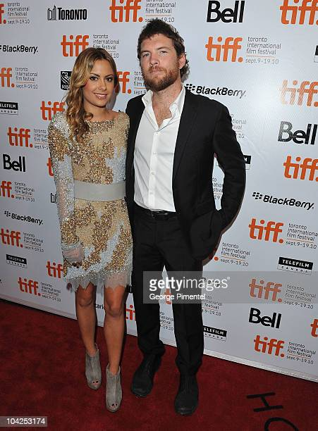 Actor Sam Worthington and Natalie Marks attend 'Last Night' Premiere during the 35th Toronto International Film Festival at Roy Thomson Hall on...