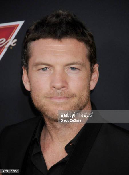 Actor Sam Worthington arrives at the Los Angeles premiere of 'Sabotage' at Regal Cinemas LA Live on March 19 2014 in Los Angeles California