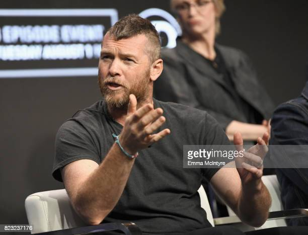 Actor Sam Worthington at the 'Manhunt Unabomber' panel for the 'Discovery Channel Discovery' portion of the TCA Summer Event 2017 at The Beverly...