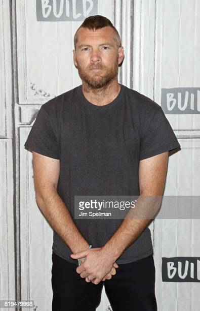 Actor Sam Worthington attends Build to discuss 'Manhunt UNABOMBER' at Build Studio on July 20 2017 in New York City