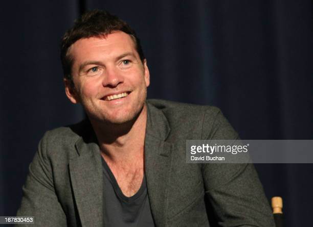 Actor Sam Worthington attends the Australians In Film Screening Of WorldWideMind Films' 'Drift' at Harmony Gold Theatre on April 30 2013 in Los...