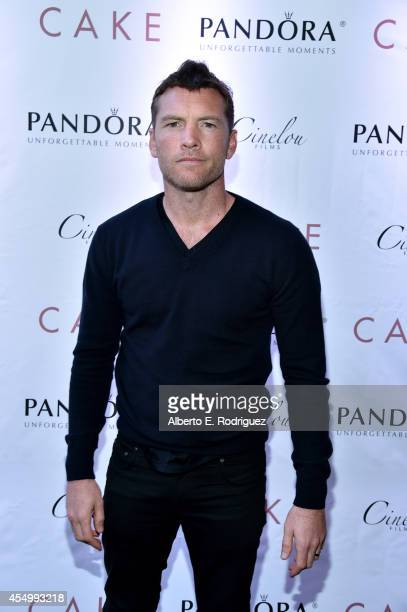 Actor Sam Worthington attends the 'Cake' cocktail reception with Jennifer Aniston presented by PANDORA Jewelry at West Bar on September 8 2014 in...