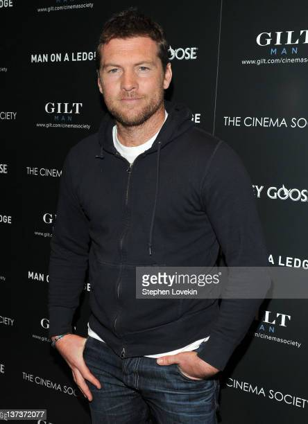 Actor Sam Worthington attends The Cinema Society Gilt Man with Grey Goose screening of 'Man on a Ledge' at the Tribeca Grand Hotel on January 19 2012...