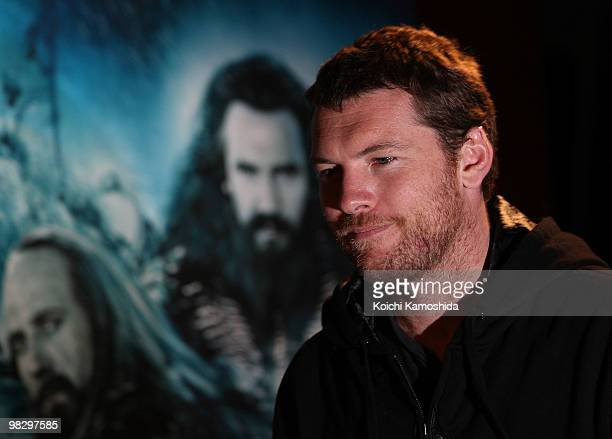 Actor Sam Worthington attends the 'Clash of the Titans' Press conference at Grand Hyatt Tokyo on April 7 2010 in Tokyo Japan The film will open on...