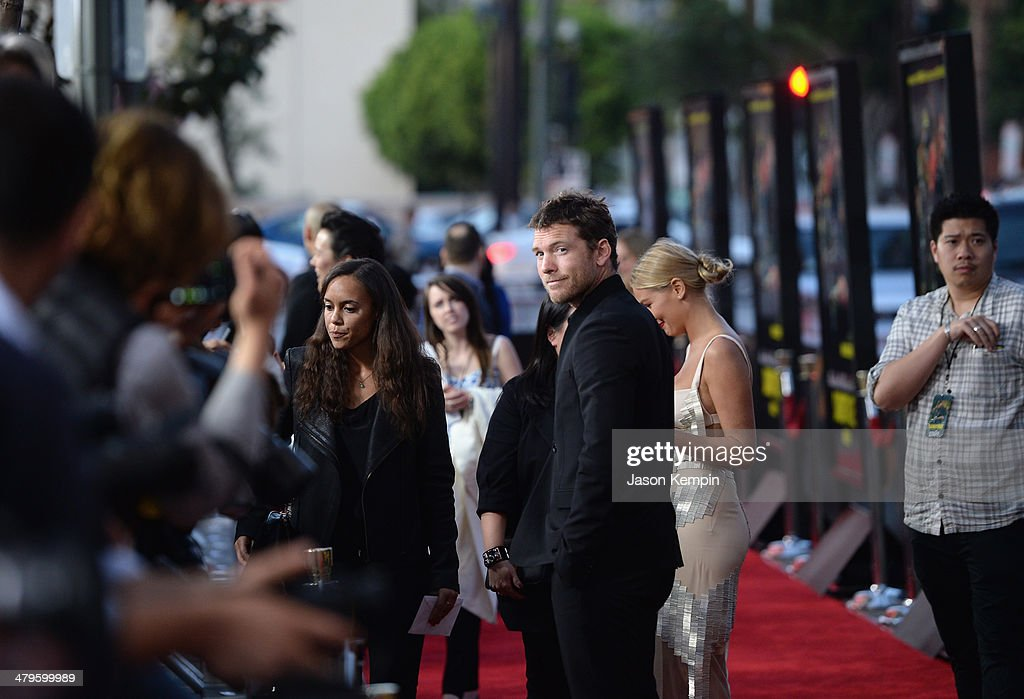 Actor <a gi-track='captionPersonalityLinkClicked' href=/galleries/search?phrase=Sam+Worthington&family=editorial&specificpeople=2594426 ng-click='$event.stopPropagation()'>Sam Worthington</a> attends the premiere of Open Road Films' 'Sabotage' at Regal Cinemas L.A. Live on March 19, 2014 in Los Angeles, California.