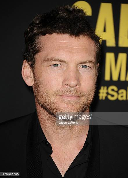 Actor Sam Worthington attends the premiere of 'Sabotage' at Regal Cinemas LA Live on March 19 2014 in Los Angeles California