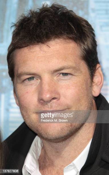 Actor Sam Worthington attends the Premiere of Summit Entertainment's 'Man On A Ledge' at Grauman's Chinese Theatre on January 23 2012 in Hollywood...
