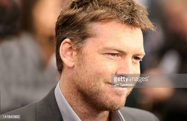 Actor Sam Worthington attends the 'Wrath of the Titans' premiere at the AMC Lincoln Square Theater on March 26 2012 in New York City