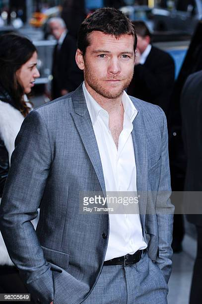 Actor Sam Worthington visits the 'Late Show With David Letterman' at the Ed Sullivan Theater on April 1 2010 in New York City