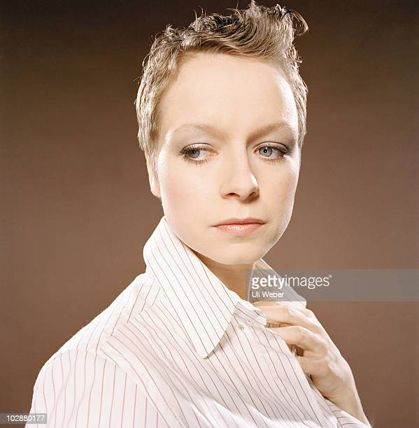 Actor Samantha Morton poses for a portrait shoot in London
