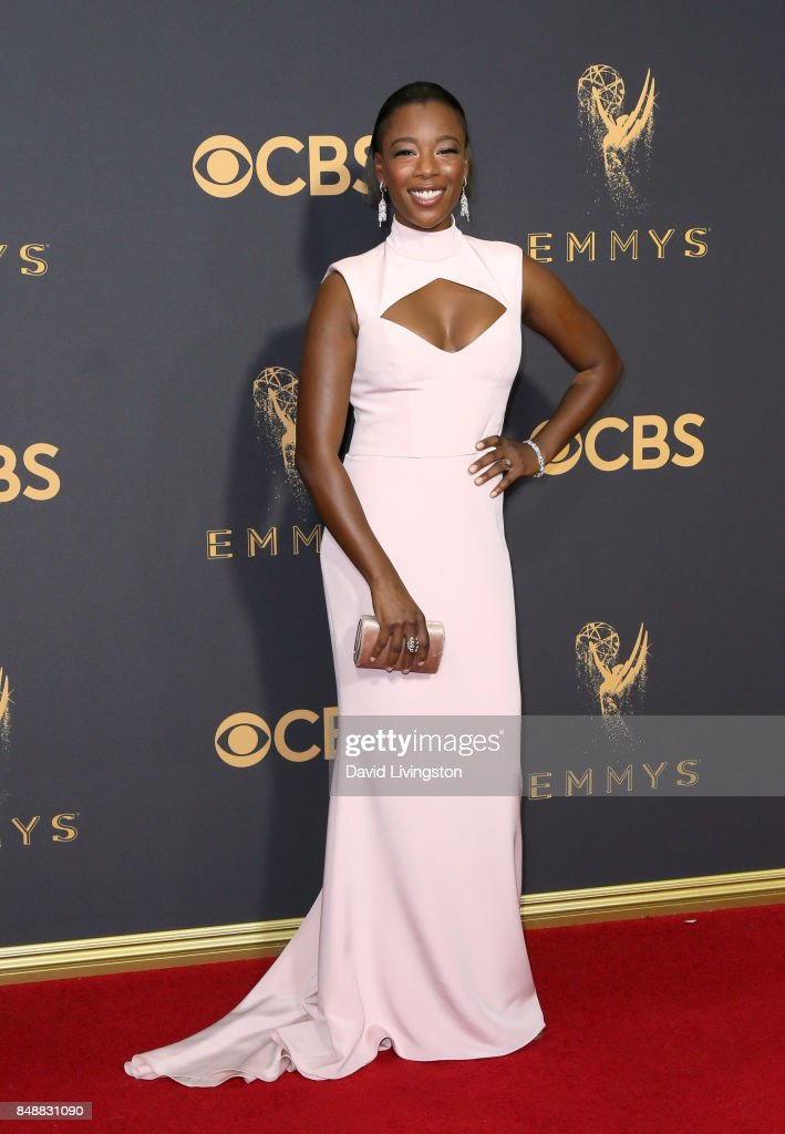 Actor Samira Wiley attends the 69th Annual Primetime Emmy Awards - Arrivals at Microsoft Theater on September 17, 2017 in Los Angeles, California.