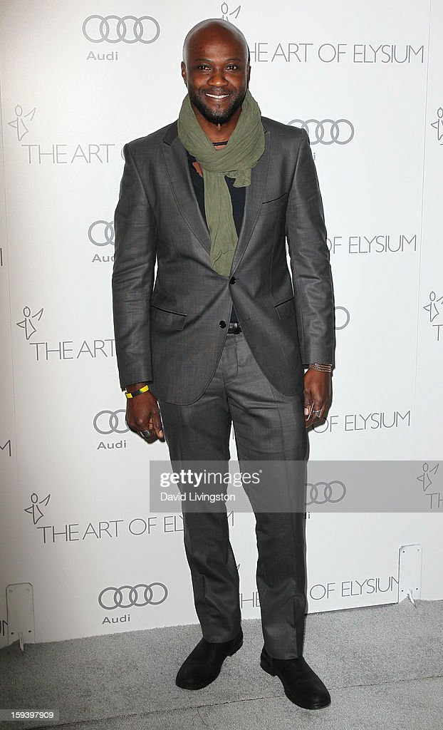 Actor Sammi Rotibi attends the Art of Elysium's 6th Annual Black-tie Gala 'Heaven' at 2nd Street Tunnel on January 12, 2013 in Los Angeles, California.