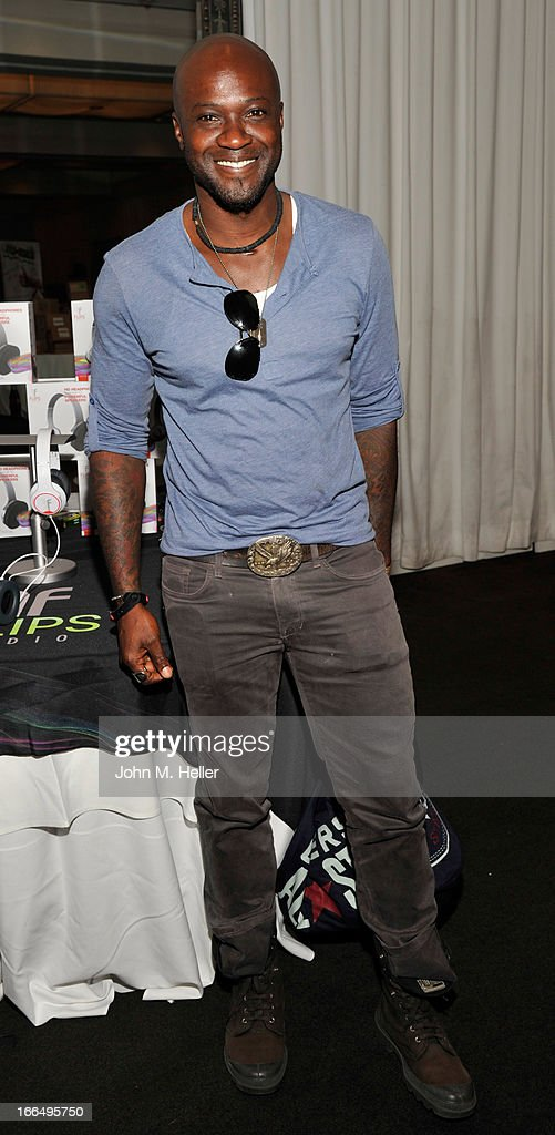 Actor Sammi Rotibi attends the Flips Audio MTV Awards Secret Room gifting suite at the SLS Hotel on April 12, 2013 in Beverly Hills, California.