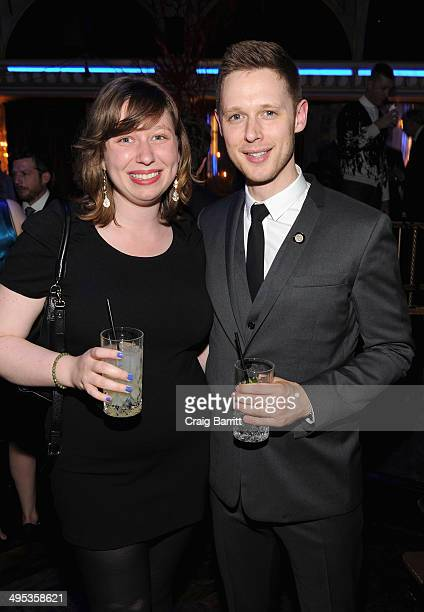 Actor Samuel Barnett and guest attend the 2014 Tony Honors Cocktail Party at the Paramount Hotel on June 2 2014 in New York City