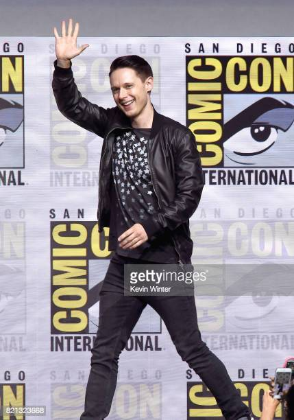 Actor Samuel Barnett at Dirk Gently's Holistic Detective Agency BBC America Official Panel during ComicCon International 2017 at San Diego Convention...
