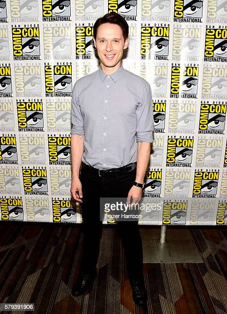 Actor Samuel Barnett attends the 'Dirk Gently' press line during ComicCon International on July 23 2016 in San Diego California