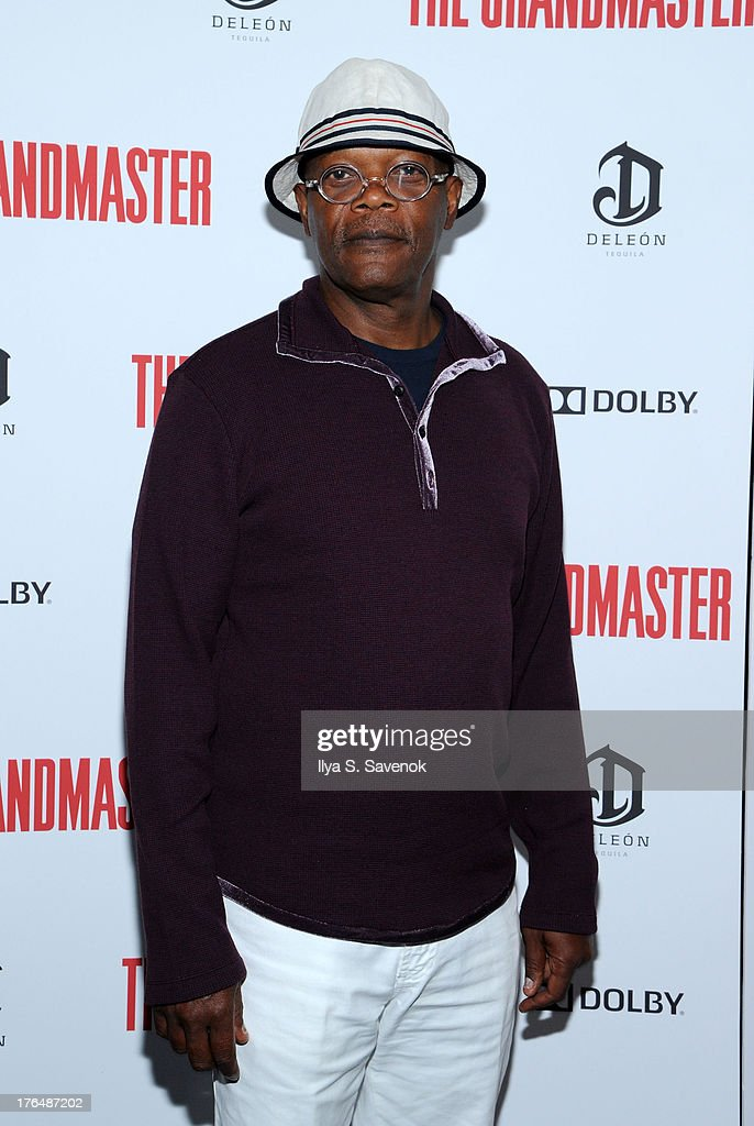 Actor Samuel Jackson attends 'The Grandmaster' New York Screening at Regal E-Walk Stadium 13 on August 13, 2013 in New York City.