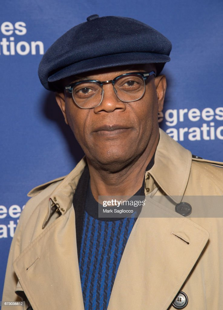 Actor Samuel Jackson attends the 'Six Degrees Of Separation' Opening Night Celebration at the Barrymore Theatre on April 25, 2017 in New York City.