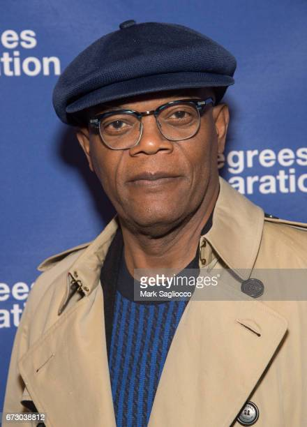 Actor Samuel Jackson attends the 'Six Degrees Of Separation' Opening Night Celebration at the Barrymore Theatre on April 25 2017 in New York City