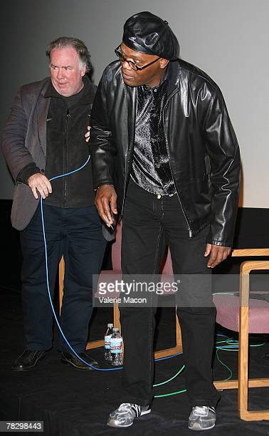 Actor Samuel Jackson comes to the screenings of 'Resurrecting the Champ' and 'Black Snake Moan' on December 6 2007 at the Aero Theatre in Santa...