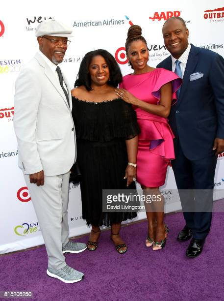 Actor Samuel L Jackson actress LaTanya Richardson actress Holly Robinson Peete and former NFL player Rodney Peete attend the 19th Annual DesignCare...