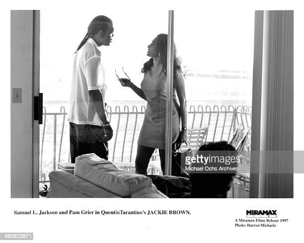 Actor Samuel L Jackson and actress Pam Grier in a scene from the Miramax movie 'Jackie Brown' circa 1997