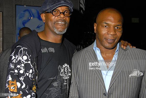 20070822 CA Actor Samuel L Jackson and Boxer Mike Tyson attends the 'Resurrecting the Champ' after party held at the Academy of Motion Picture Arts...