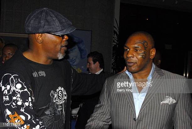 20070822 CA 20070822 CA Actor Samuel L Jackson and Boxer Mike Tyson attends the 'Resurrecting the Champ' after party held at the Academy of Motion...
