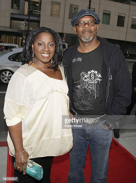 Actor Samuel L Jackson and his wife LaTanya Jackson arrive at the premiere of Yari Film's 'Resurrecting the Champ' at the Academy Theater on August...