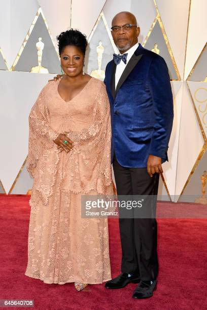 Actor Samuel L Jackson and LaTanya Richardson Jackson attend the 89th Annual Academy Awards at Hollywood Highland Center on February 26 2017 in...