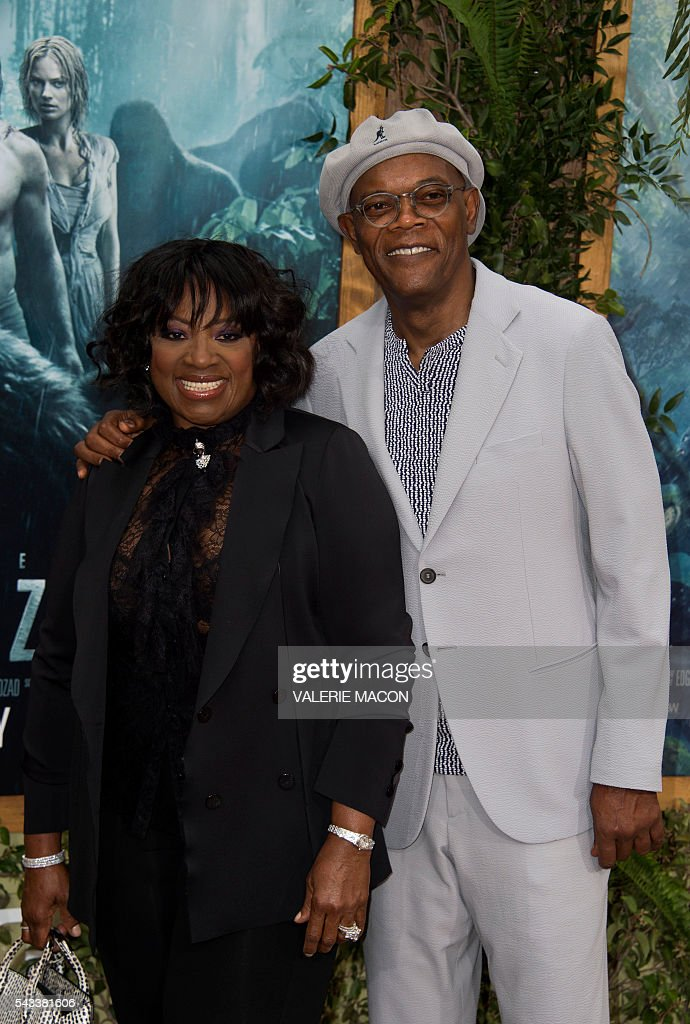 Actor Samuel L. Jackson and wife LaTanya Richardson attend the world premiere of 'The Legend of Tarzan' in Hollywood, California, on June 27, 2016. / AFP / VALERIE