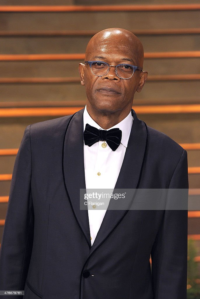 Actor <a gi-track='captionPersonalityLinkClicked' href=/galleries/search?phrase=Samuel+L.+Jackson&family=editorial&specificpeople=167234 ng-click='$event.stopPropagation()'>Samuel L. Jackson</a> arrives at the 2014 Vanity Fair Oscar Party Hosted By Graydon Carter on March 2, 2014 in West Hollywood, California.