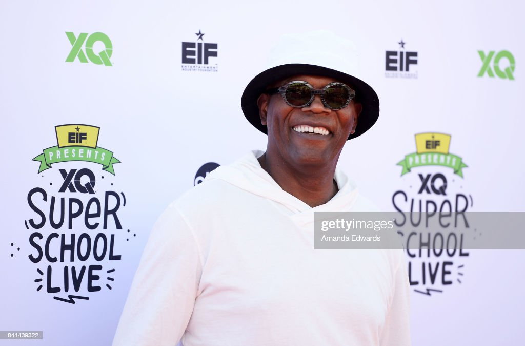 Actor Samuel L. Jackson arrives at the EIF Presents: XQ Super School Live event at The Barker Hanger on September 8, 2017 in Santa Monica, California.