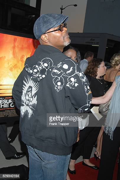 Actor Samuel L Jackson arrives at the premiere of 'Resurrecting The Champ' held at the Academy of Motion Picture Arts Sciences in Beverly Hills