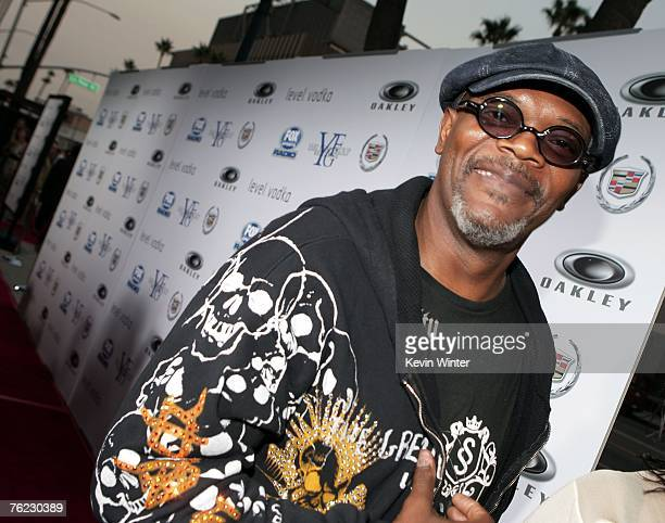 Actor Samuel L Jackson arrives at the premiere of Yari Film's 'Resurrecting the Champ' at the Academy Theater on August 22 2007 in Beverly Hills...