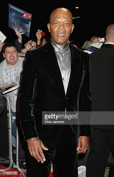 Actor Samuel L Jackson arrives at the Swarovski Fashion Rocks concert at the Royal Albert Hall on October 18 2007 in London England