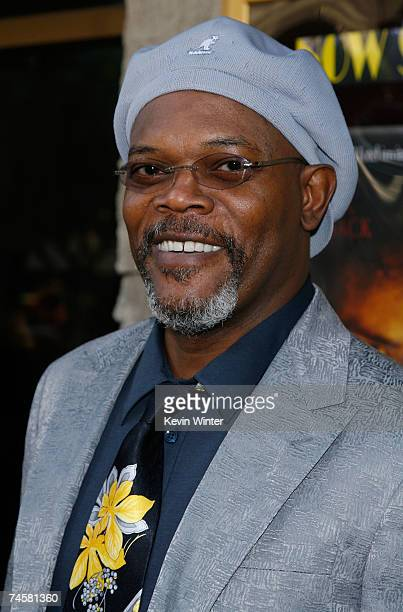 Actor Samuel L Jackson arrives to the premiere of MGM and Dimension Films' '1408' held at Mann National Theatre on June 12 2007 in Westwood California