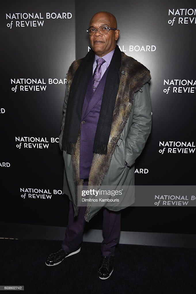 Actor <a gi-track='captionPersonalityLinkClicked' href=/galleries/search?phrase=Samuel+L.+Jackson&family=editorial&specificpeople=167234 ng-click='$event.stopPropagation()'>Samuel L. Jackson</a> attends 2015 National Board of Review Gala at Cipriani 42nd Street on January 5, 2016 in New York City.