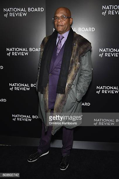 Actor Samuel L Jackson attends 2015 National Board of Review Gala at Cipriani 42nd Street on January 5 2016 in New York City