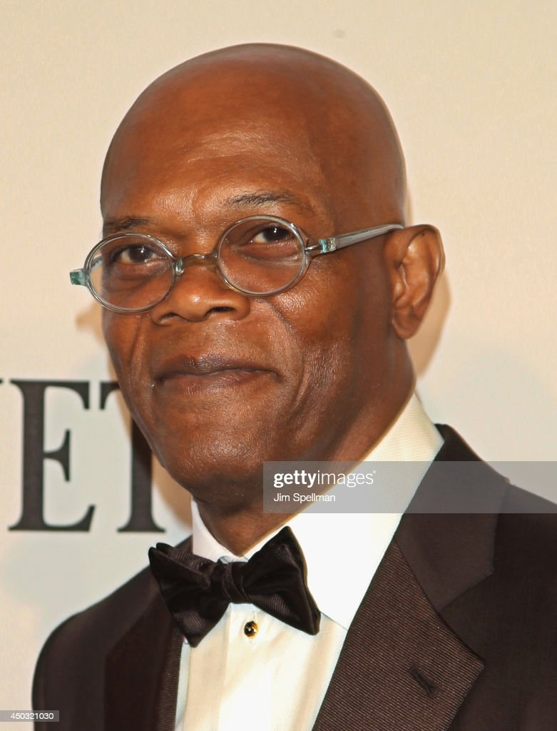 Actor <a gi-track='captionPersonalityLinkClicked' href=/galleries/search?phrase=Samuel+L.+Jackson&family=editorial&specificpeople=167234 ng-click='$event.stopPropagation()'>Samuel L. Jackson</a> attends American Theatre Wing's 68th Annual Tony Awards at Radio City Music Hall on June 8, 2014 in New York City.