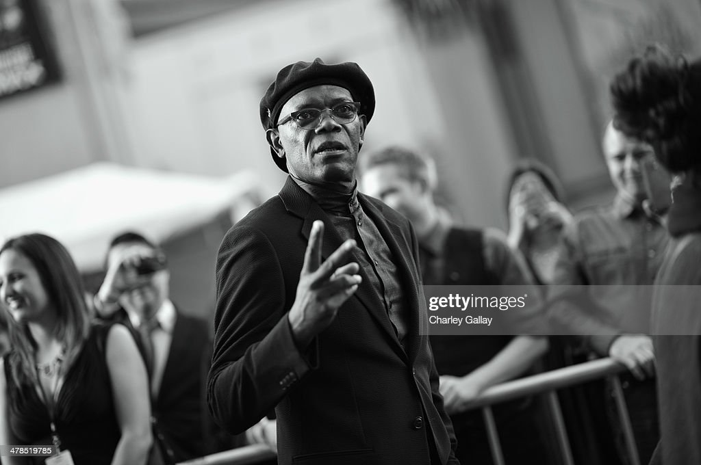 Actor <a gi-track='captionPersonalityLinkClicked' href=/galleries/search?phrase=Samuel+L.+Jackson&family=editorial&specificpeople=167234 ng-click='$event.stopPropagation()'>Samuel L. Jackson</a> attends Marvel's 'Captain America: The Winter Soldier' premiere at the El Capitan Theatre on March 13, 2014 in Hollywood, California.