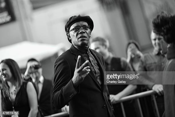 Actor Samuel L Jackson attends Marvel's 'Captain America The Winter Soldier' premiere at the El Capitan Theatre on March 13 2014 in Hollywood...