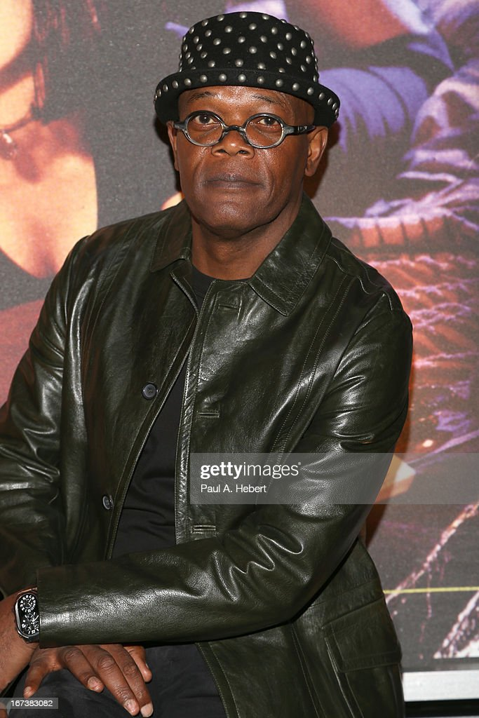 Actor <a gi-track='captionPersonalityLinkClicked' href=/galleries/search?phrase=Samuel+L.+Jackson&family=editorial&specificpeople=167234 ng-click='$event.stopPropagation()'>Samuel L. Jackson</a> attends screening of 'Pulp Fiction' at Target Presents AFI's Night at the Movies at ArcLight Cinemas on April 24, 2013 in Hollywood, California.