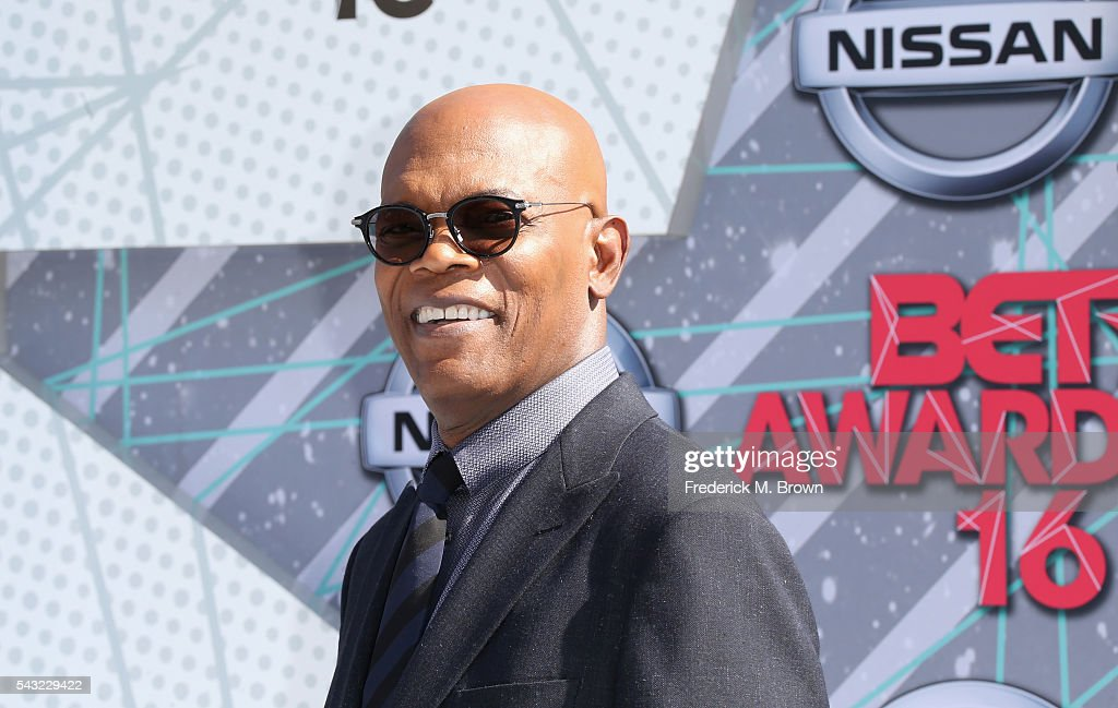 Actor <a gi-track='captionPersonalityLinkClicked' href=/galleries/search?phrase=Samuel+L.+Jackson&family=editorial&specificpeople=167234 ng-click='$event.stopPropagation()'>Samuel L. Jackson</a> attends the 2016 BET Awards at the Microsoft Theater on June 26, 2016 in Los Angeles, California.
