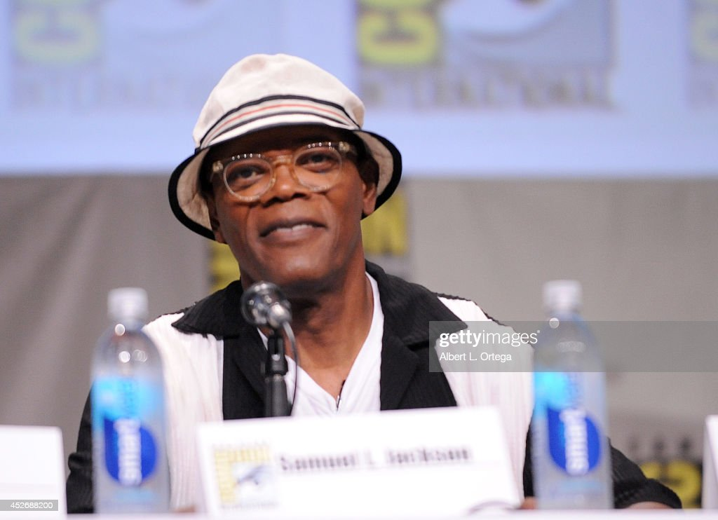 Actor <a gi-track='captionPersonalityLinkClicked' href=/galleries/search?phrase=Samuel+L.+Jackson&family=editorial&specificpeople=167234 ng-click='$event.stopPropagation()'>Samuel L. Jackson</a> attends the 20th Century Fox presentation during Comic-Con International 2014 at San Diego Convention Center on July 25, 2014 in San Diego, California.