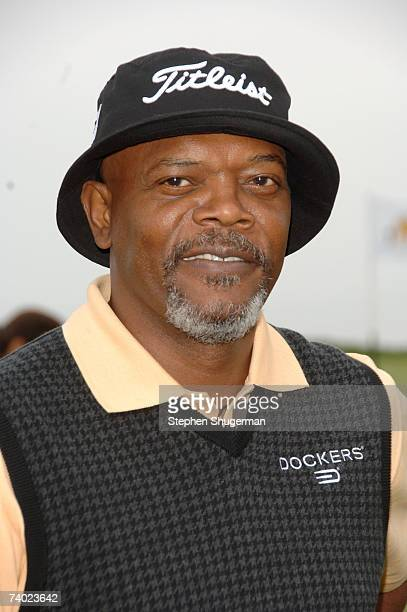 Actor Samuel L Jackson attends the 9th Annual Michael Douglas Friends Celebrity Golf Tournament at the Trump National Golf Club April 29 2007 in...