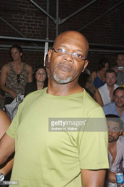 Actor Samuel L Jackson attends the adidas Y3 Spring 2008 Fashion Show held at 506 W 22nd Street during the MercedesBenz Fashion Week Spring 2008 on...